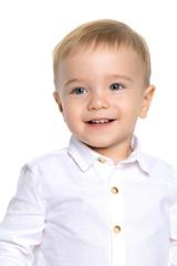 Portrait of a little boy close-up.