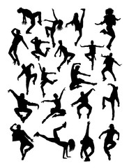 Dancer pose silhouette. Good use for symbol, logo, web icon, mascot, sign, or any design you want.