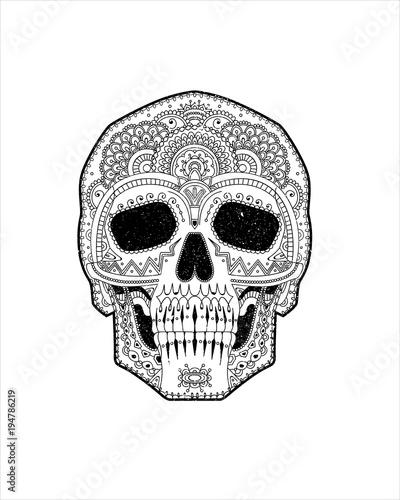 Dia De Los Muertos Mexico Catrina Calavera Esqueleto Humana