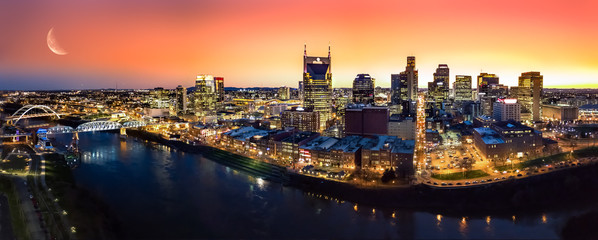 Nashville during sunset Fototapete