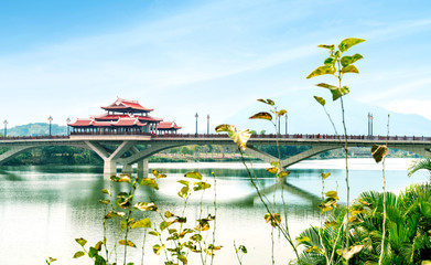 Chinese traditional style bridge