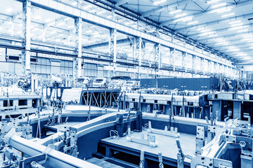 Automobile factory production workshop