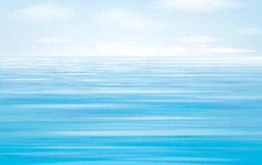 Vector blue sea   background.