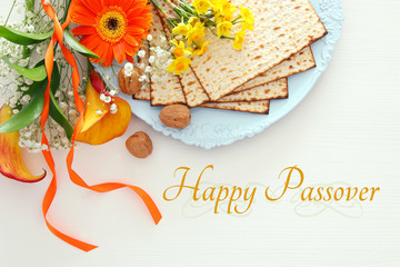 Pesah celebration concept (jewish Passover holiday).