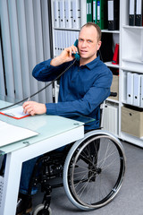 disabled business in wheelchair