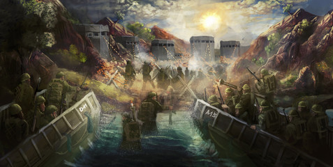 D-day, Normandy  landing