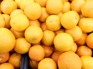 oranges close-up in a box