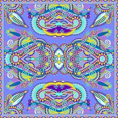 Traditional ornamental floral arabesque paisley bandanna