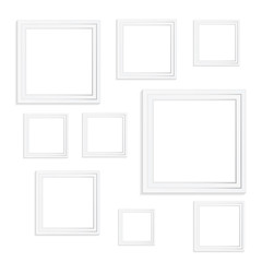 Realistic picture frames. Perfect for your presentations. Stock vector illustration