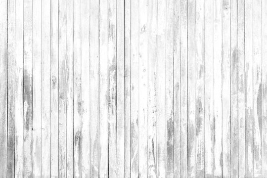 Old white grey wood texture and background in vintage tone.