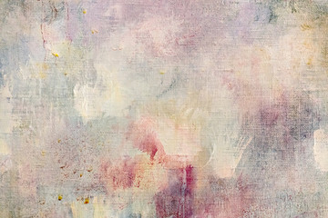 weathered abstract art background with paint splashes and blots