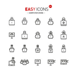 Easy icons 44a Computer crime