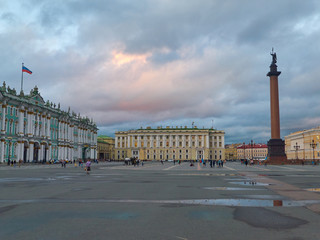 The State Hermitage Museum Building in Saint Petersburg, Russia