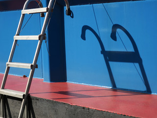 ladder with shadow