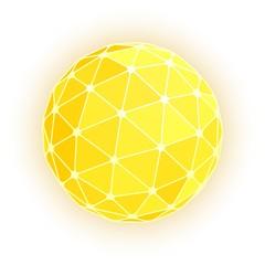 Gold geodesic sphere. Vector illustration.