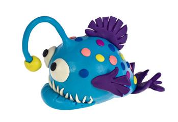 Funny plasticine Anglerfish