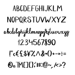 Vector hand drawn typeface.