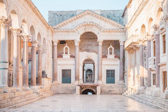Ancient palace built for the Roman Emperor Diocletian - Split, Croatia