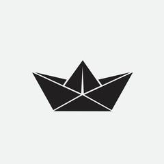 Paper ship, web icon