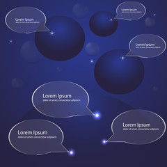 night sky, planet, stars, presentation template, bright vector illustration