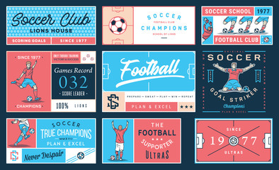 Colored soccer badge set number 2