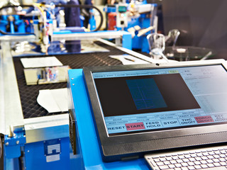 Monitor and keyboard control of laser cutting metal machine