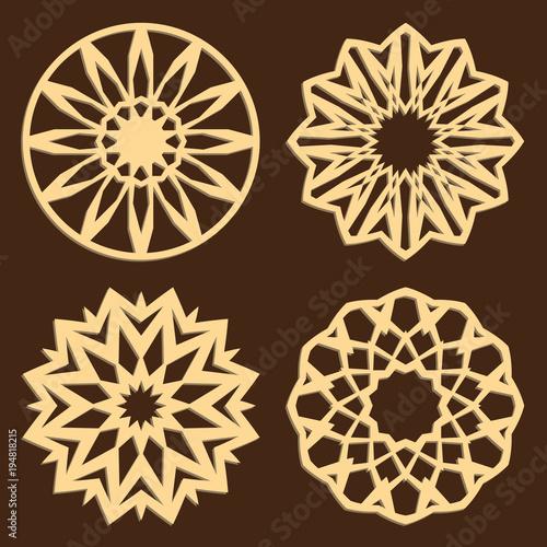 diy laser cutting patterns jigsaw die cut ornaments islamic cutout