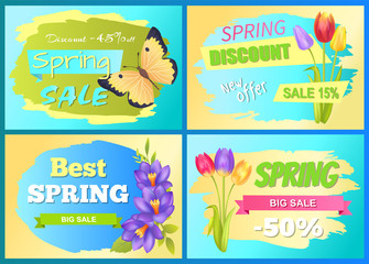 Best Offer Spring Sale Advertisement Poster Flower