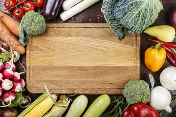 summer vegetables background