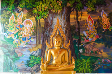 Golden Buddha statue in the temple