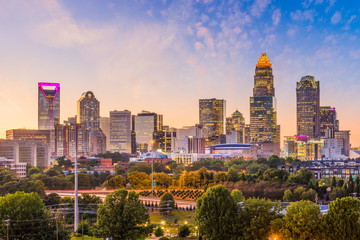 Wall Mural - Charlotte, North Carolina, USA Skyline