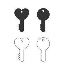 key heart shape icon