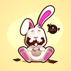 Dirty chocolate rabbit