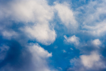 amazing blue sky and white clouds background