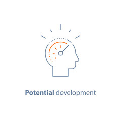 Head line icon, potential development concept, personal growth