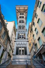 Santa Justa Elevator in Lisbon Portugal