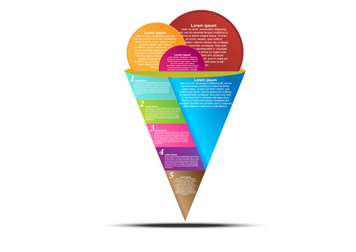 Concept and idea ice cream cone infographic. Infographic template for create report and presentation. Vector EPS10