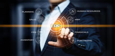 Enterprise Resource Planning ERP Corporate Company Management Business Internet Technology Concept