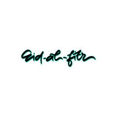 Eid- al- fitr hand drawn lettering.