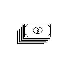 dollars icon.Element of popular finance icon. Premium quality graphic design. Signs, symbols collection icon for websites, web design,