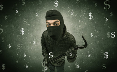 Money hungry thief.