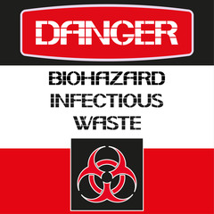 Danger. Biohazard infectious waste.