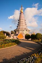 Landscape pagoda at doi Inthanon national park , chiang mai ,Thailand,
