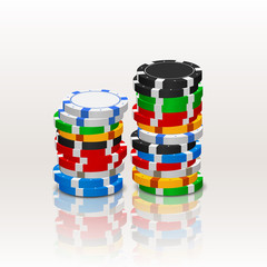 poker chips in a stack