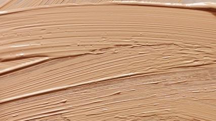 liquid makeup foundation texture smudges. Macro cosmetics texture top view