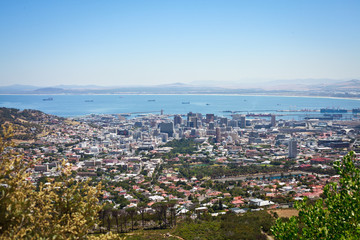 View over Cape Town from Table Mountain