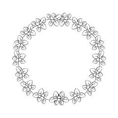 wreath flora natural decoration ornament vector illustration sketch design