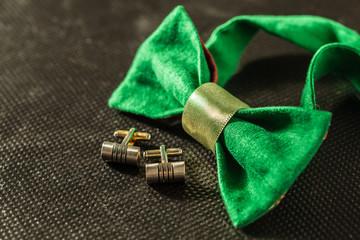bow tie on dark background