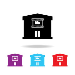 Cinema building icon. Elements of  building in multi colored icons for mobile concept and web apps. Icons for website design and development, app development