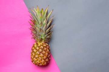 pineapple on colored paper